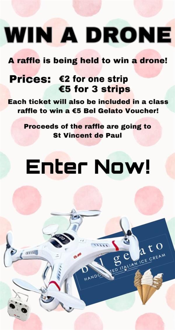 Raffle for St Vincent de Paul!